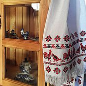 Русский стиль ручной работы. Ярмарка Мастеров - ручная работа Рушник с петухами. Handmade.