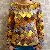 Одежда ручной работы. Ярмарка Мастеров - ручная работа Бесшовный свитер в технике энтрелак. Handmade.