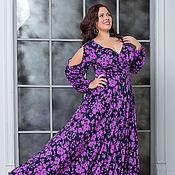 Вечернее платье Ромелла лаванда.Размеры 56-58