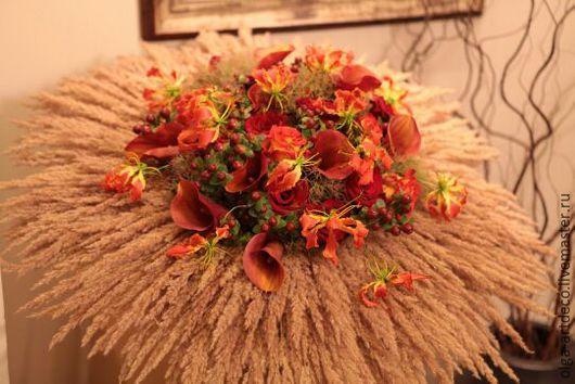 Букеты ручной работы. Ярмарка Мастеров - ручная работа. Купить букет из  живых цветов. Handmade. Рыжий, роза, калла