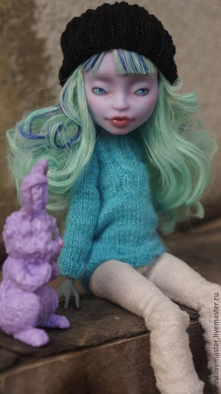 Коллекционные куклы ручной работы. Ярмарка Мастеров - ручная работа. Купить ооак Monster HIgh. Handmade. Ооак, ooak, твайла