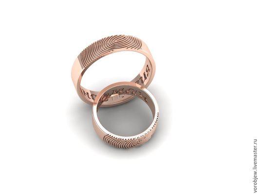 Кольца ручной работы. Ярмарка Мастеров - ручная работа. Купить Обручальные кольца, золото 585, с именами. Handmade. Обручальные кольца