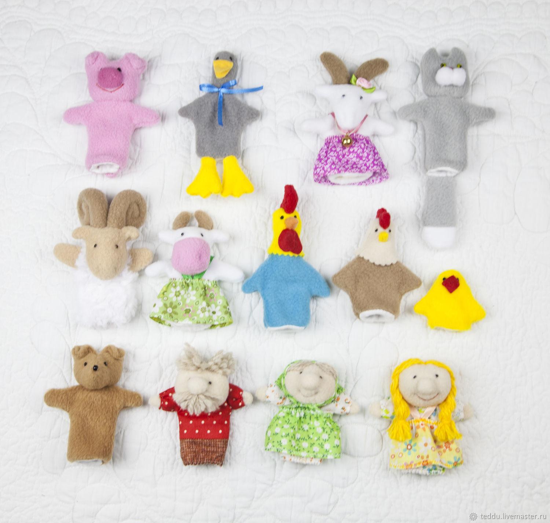 Деревенька. Пальчиковые игрушки. 13 кукол, Кукольный театр, Кемь,  Фото №1