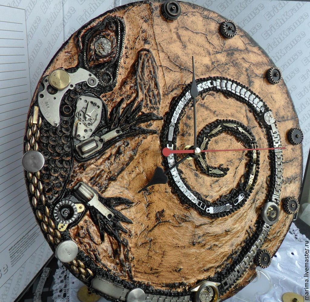 Lizard wall clock steampunk, Watch, Kamensk-Shahtinskij,  Фото №1