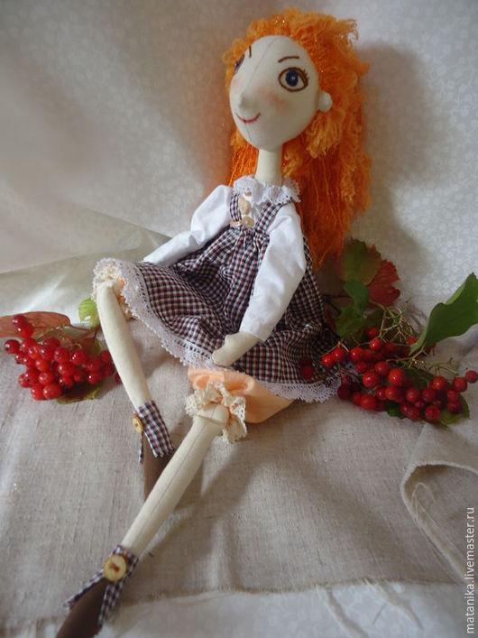 Куклы тыквоголовки ручной работы. Ярмарка Мастеров - ручная работа. Купить Юлька Капризулька. Handmade. Рыжий, подарок на день рождения