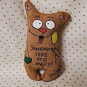 Мягкие игрушки ручной работы. Ярмарка Мастеров - ручная работа Кофейный котик. Handmade.