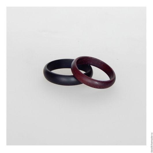 Свадебные украшения ручной работы. Ярмарка Мастеров - ручная работа. Купить Обручальные кольца из черного дерева.. Handmade. Черный