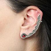 handmade. Livemaster - original item Cuff Earring Petals made of 925 sterling silver GA0030-4. Handmade.