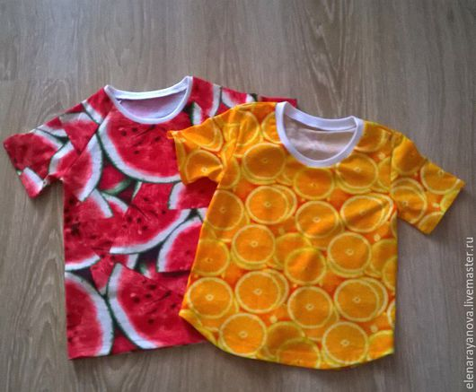 Одежда унисекс ручной работы. Ярмарка Мастеров - ручная работа. Купить Вкусные футболочки. Handmade. Ярко-красный, футболка с принтом