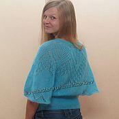 "Одежда handmade. Livemaster - original item Knitted sweater-poncho ""Italy"". Handmade."