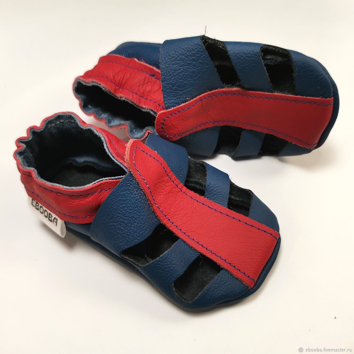 Blue baby sandals, Boys' Sandals, Ebooba, Leather baby shoes, Footwear for childrens, Kharkiv,  Фото №1