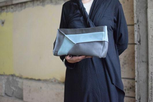 Женские сумки ручной работы. Ярмарка Мастеров - ручная работа. Купить Клатч. Handmade. Клатч, синий, женщина, вставка, подкладка