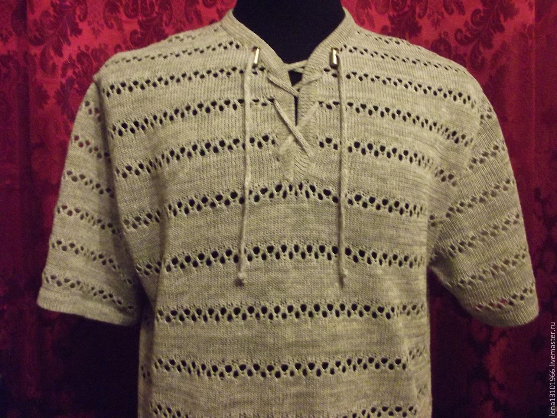 100%лён мужская рубашка, Рубашки мужские, Кострома,  Фото №1