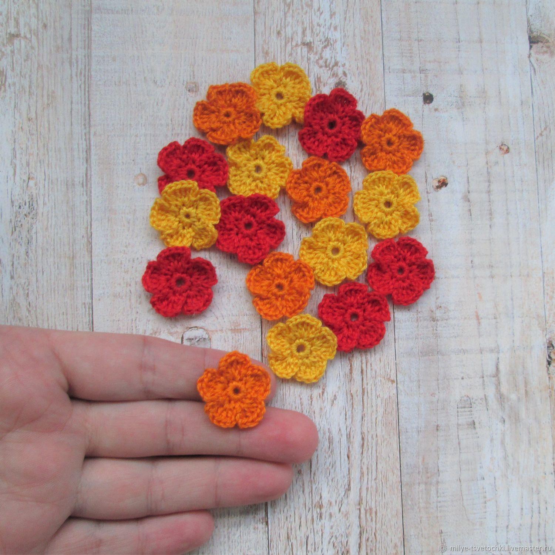 Открытки и скрапбукинг ручной работы. Ярмарка Мастеров - ручная работа. Купить Маленькие цветы. Комплект 15 шт. Для скрапбукинга и декора. Handmade.