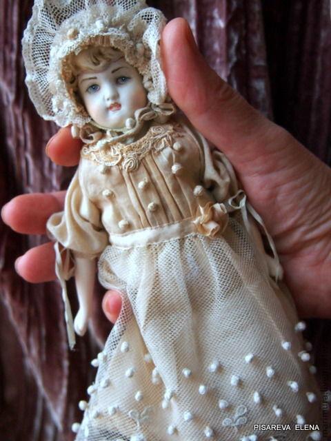 """Коллекционные куклы ручной работы. Ярмарка Мастеров - ручная работа. Купить кукла""""Боня"""". Handmade. Бежевый, авторская кукла, антикварная"""
