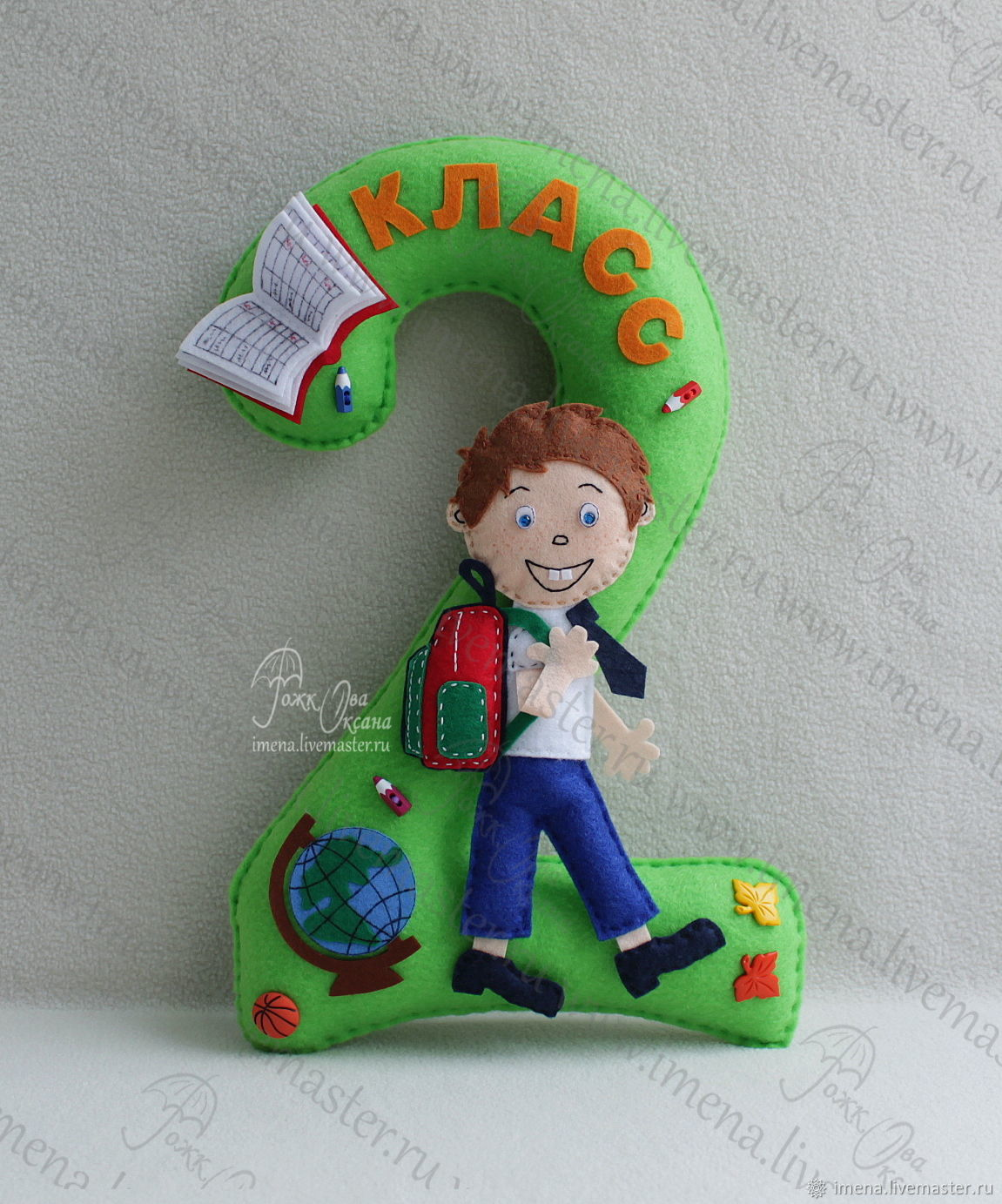 The pattern of the student for the decoration of figures on 1 September. The rest of the pattern on a school theme here https://www.livemaster.ru/item/14986085-materialy-dlya-tvorchestva-komplekt-vykr