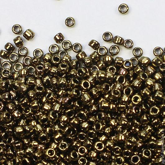 Для украшений ручной работы. Ярмарка Мастеров - ручная работа. Купить Круглый 15/0 TOHO 223 Dark Gold Bronze Metallic японский бисер. Handmade.
