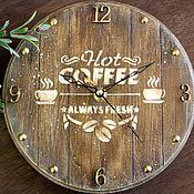 """Для дома и интерьера ручной работы. Ярмарка Мастеров - ручная работа Часы """"Тишина и чашечка кофе"""". Handmade."""