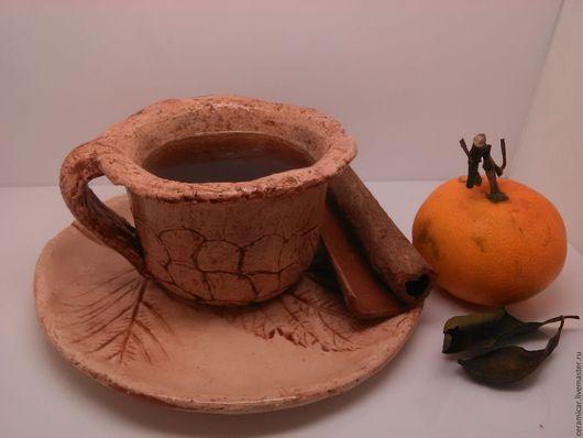 """Кружки и чашки ручной работы. Ярмарка Мастеров - ручная работа. Купить Кофейная пара """"кофе в ноябре"""". Handmade. Кофе, нежность"""