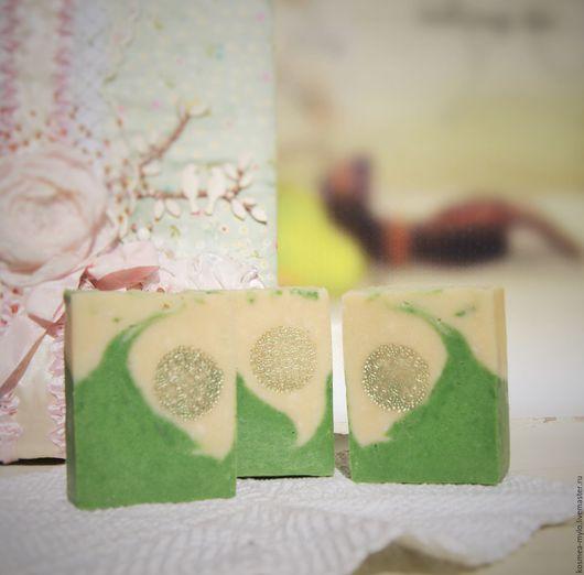 `Ландыш`. Мыло натуральное с нуля ручной работы. Handmade. Натуральная косметика. Ярмарка Мастеров - купить мыло. КосмеЯ.