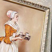 Картины ручной работы. Ярмарка Мастеров - ручная работа Прекрасная Шоколадница. Handmade.