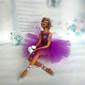 Куклы и игрушки handmade. Livemaster - original item Interior doll Ballerina Lilac. Handmade.