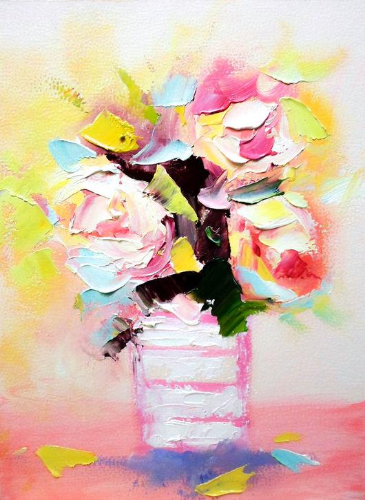Картины цветов ручной работы. Ярмарка Мастеров - ручная работа. Купить Картина маслом. Handmade. Картина, картина для интерьера
