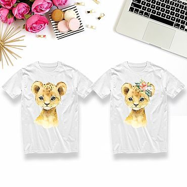 Одежда ручной работы. Ярмарка Мастеров - ручная работа Детские футболки с животными на заказ. Handmade.