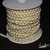 Материалы для творчества handmade. Livemaster - original item Polybutene on a string, pearls, 6 mm. Handmade.