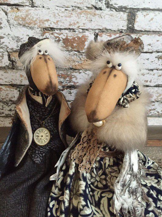 Игрушки животные, ручной работы. Ярмарка Мастеров - ручная работа. Купить Ворон и ворона семейная пара. Handmade. Черный, птицы