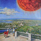 Картины и панно handmade. Livemaster - original item Dream of the red planet. Oil on canvas. 2017.. Handmade.