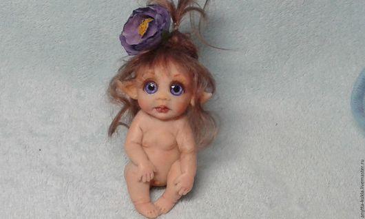 Миниатюра ручной работы. Ярмарка Мастеров - ручная работа. Купить ....эльфик Лаура.... Handmade. Бежевый, кукольная миниатюра, living doll