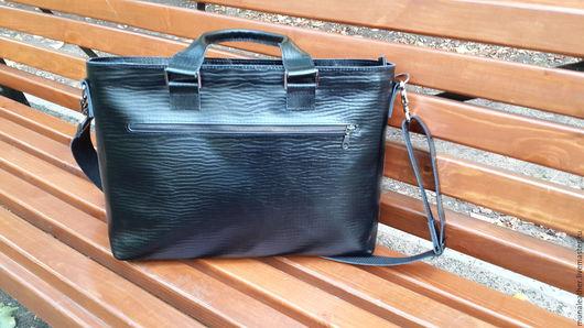 Мужские сумки ручной работы. Ярмарка Мастеров - ручная работа. Купить Портфель мужской кожаный. Черная мужская сумка. Именная сумка.. Handmade.