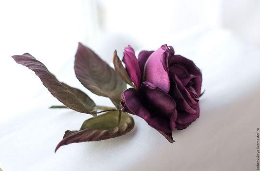 Цветы ручной работы. Ярмарка Мастеров - ручная работа. Купить Цветы из шелка.. Роза. Handmade. Бордовый, цветы из ткани
