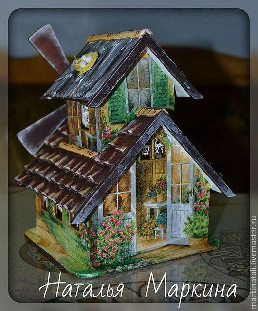 Кухня ручной работы. Ярмарка Мастеров - ручная работа. Купить Чайны домик  МЕЛЬНИЦА. Handmade. Зеленый, чайный домик, Декупаж