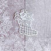 Сувениры и подарки handmade. Livemaster - original item Boot with Christmas gifts. Lace Christmas tree decoration. Handmade.