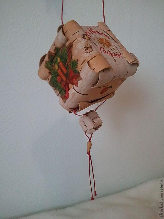 Сувениры ручной работы. Ярмарка Мастеров - ручная работа. Купить Новогодняя игрушка-оберег Шаркунок. Handmade. Шаркунок, береста