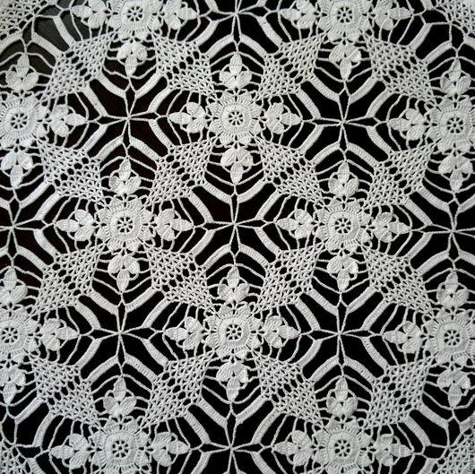 Текстиль, ковры ручной работы. Ярмарка Мастеров - ручная работа. Купить Квадратная вязаная скатерть, салфетка крючком любого размера. Handmade.