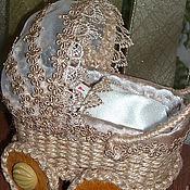 Куклы и игрушки ручной работы. Ярмарка Мастеров - ручная работа Миниатюрная колясочка. Handmade.
