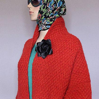 """Верхняя одежда ручной работы. Ярмарка Мастеров - ручная работа. Купить Вязаное пальто """"TerraCOAT"""". Handmade. Вязаное пальто"""