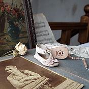 Куклы и игрушки ручной работы. Ярмарка Мастеров - ручная работа Опаловые. Туфельки для куклы. Handmade.