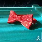 Аксессуары handmade. Livemaster - original item Tie Dandy / bow tie red white polka dots. Handmade.