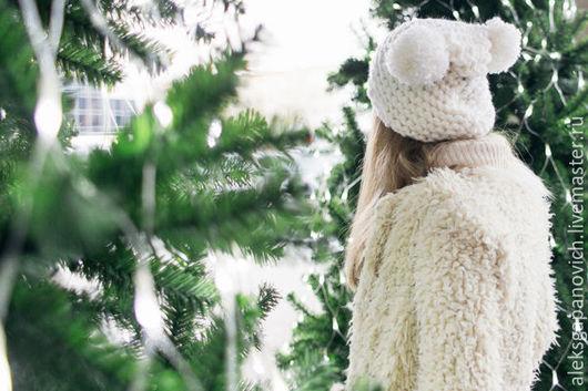 Шарфы и шарфики ручной работы. Ярмарка Мастеров - ручная работа. Купить Белая шапочка. Handmade. Белый, шапка зимняя