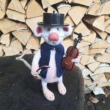 Куклы и игрушки ручной работы. Ярмарка Мастеров - ручная работа Валяный крыс Шопен. Handmade.