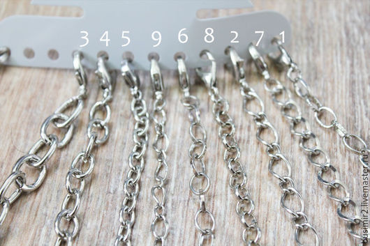 Основа для браслета, замок - лобстер, цвет -  платина. Основы и заготовки для создания украшений. Busimir