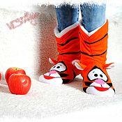 Обувь ручной работы handmade. Livemaster - original item Slippers Of The Tiger. Handmade.