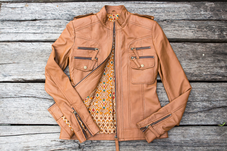 Women's leather jacket. Spring / autumn jacket of genuine leather, Outerwear Jackets, Chelyabinsk,  Фото №1