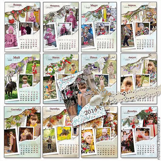 Календари ручной работы. Ярмарка Мастеров - ручная работа. Купить Календарь 2017 год, х3 фото. Handmade. Календарь, Авторский дизайн