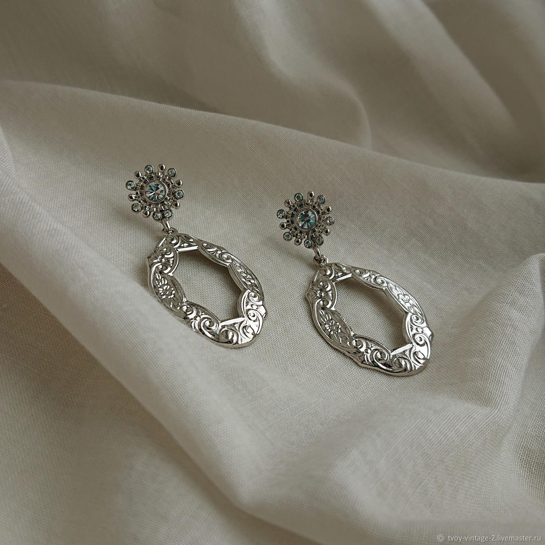 Винтаж: 1928 Jewelry «Серебряное вдохновение», Серьги винтажные, Москва,  Фото №1
