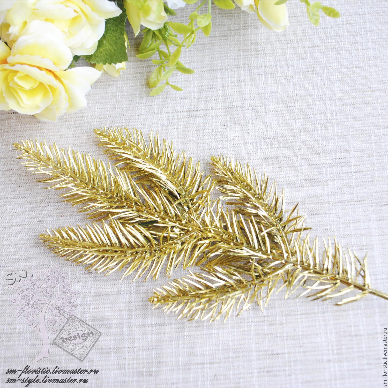 Золотая ветка декор